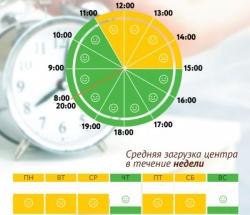 График загруженности МФЦ Выхино-Жулебино по дням недели и часам